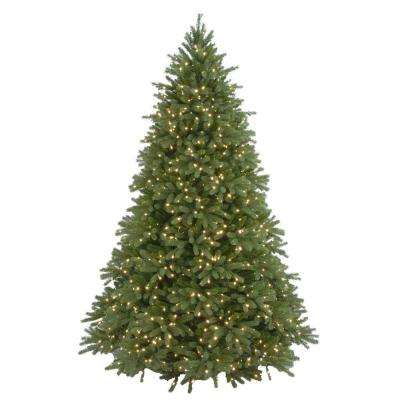 6.5 ft. Feel-Real Jersey Fraser Fir Artificial Christmas Tree with 800 Clear Lights