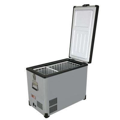 Elite 45 Qt. SlimFit 1.5 cu. ft. Frost Free Portable Freezer in Gray with 12-Volt Option
