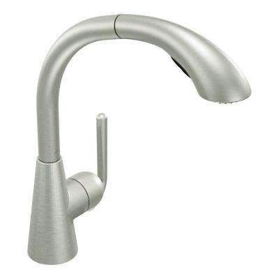 Ascent Single-Handle Pull-Out Sprayer Kitchen Faucet in Classic Stainless