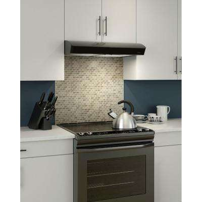 Mantra 30 in. Convertible Range Hood in Black