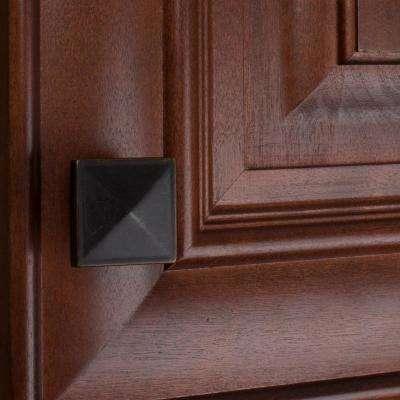 1-1/4 in. Oil Rubbed Bronze Square Pyramid Cabinet Knob (10-Pack)