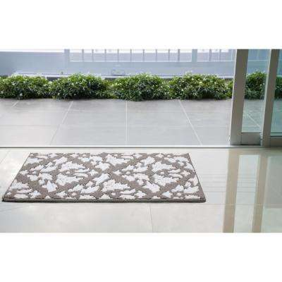 Mira Grey/Soft White 2 ft. x 4 ft. Loop Area Rug