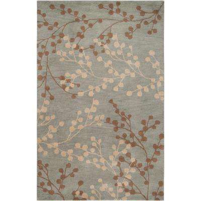 Blossoms Blue 5 ft. x 7 ft. 9 in. Area Rug