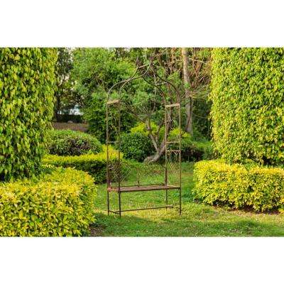 Eloise 95 in. x 42.5 in. Iron Outdoor Arbor