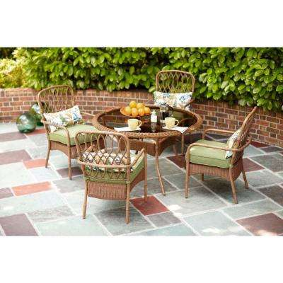 Clairborne 5-Piece Patio Dining Set with Moss Cushion