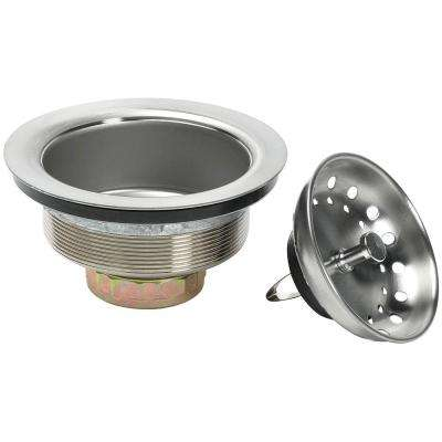 Spring Clip Strainer in Brushed Nickel