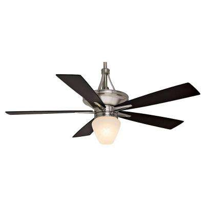 Colorado 60 in. Indoor Brushed Nickel Ceiling Fan with Direct Touch Single Light Wall Control