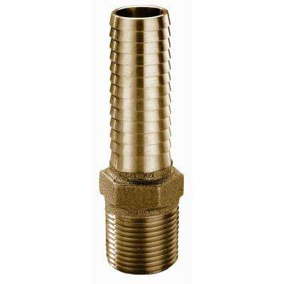 1-1/4 in. Brass Extra Long Male Insert Adapter