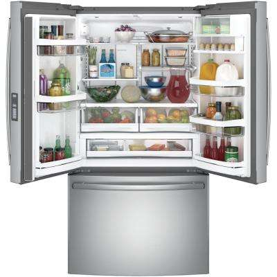 Profile 23.1 cu. ft. French Door Refrigerator in Stainless Steel, Counter Depth