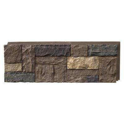 Castle Rock Tuscan Brown 15.25 in. x 43.25 in. Faux Stone Siding Panel (4-Pack)
