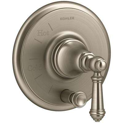 Artifacts Lever 1-Handle Rite-Temp Pressure Balancing Valve Trim Kit in Vibrant Brushed Bronze (Valve Not Included)