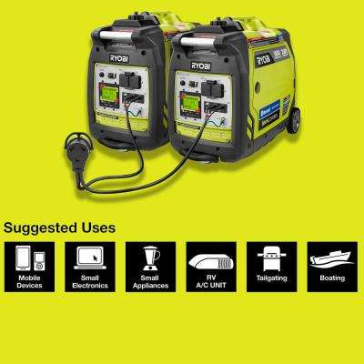 Bluetooth 2,300-Watt Super Quiet Gasoline Powered Digital Inverter Generator with Parallel Combo Kit