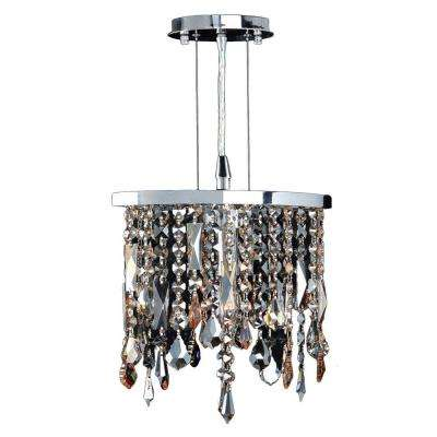 Fiona Collection 1-Light Multi-Colored Crystal and Chrome Pendant