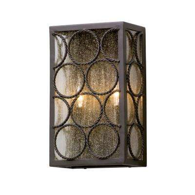 Bacchus 2-Light Textured Bronze Outdoor Wall Mount Sconce