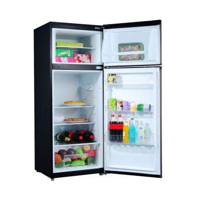 7.6 cu. ft. Top Freezer Refrigerator with Dual Door in Stainless Steel Look