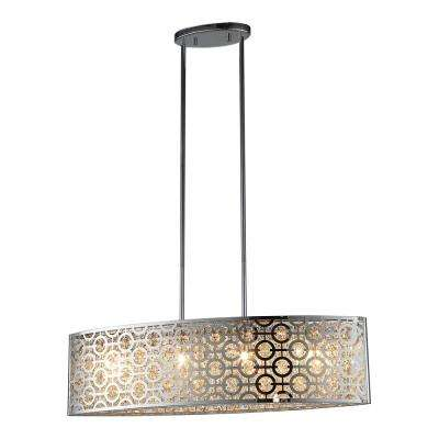 Ashcombe II 4-Light Chrome Pendant