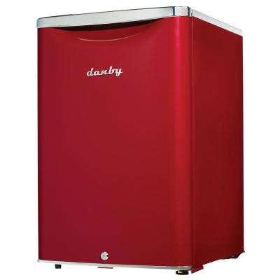 2.6 cu. ft. Mini All Refrigerator in Metallic Red
