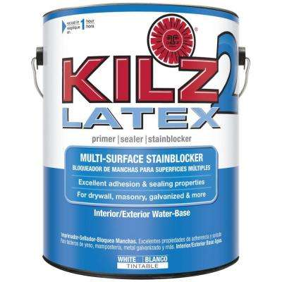 1-gal. White Water-Based Latex Interior/Exterior Multi-Surface Primer, Sealer and Stain-Blocker
