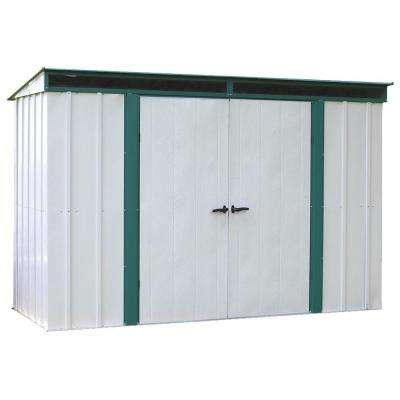 Eurolite Lean Too 10 ft. W x 4 ft. D Galvanized Metal Storage Shed