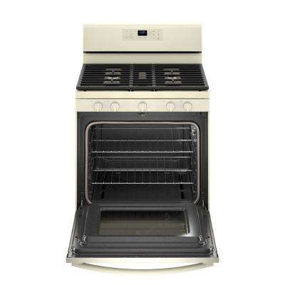 5.0 cu. ft. Gas Range with Self-Cleaning Oven and Center Oval Burner in Biscuit