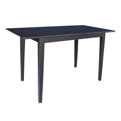 Extendable 5 ft. Counter Height Shaker Table in Black
