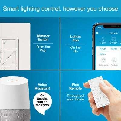 Caseta Wireless Smart Lighting Dimmer Switch (2 Count) Starter Kit
