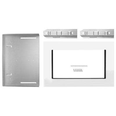 27 in. Microwave Trim Kit in White
