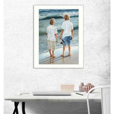 "14 in. x 18 in. ""Going Fishing"" by Georgia Janisse Printed Framed Wall Art"
