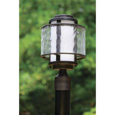 Bay Court Collection 1-Light Antique Bronze Outdoor Post Lantern