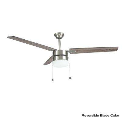 Montgomery 56 in. Indoor Brushed Nickel Ceiling Fan with Light