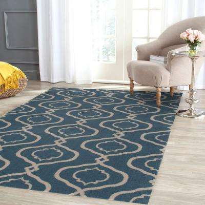 Moroccan Trellis Modern Blue 8 ft. x 10 ft. Area Rug