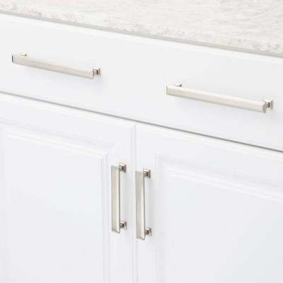 5 in. Center-to-Center Satin Nickel Poise Pull with Back Plate