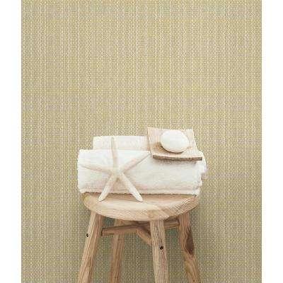Kent Yellow Faux Grasscloth Wallpaper Sample