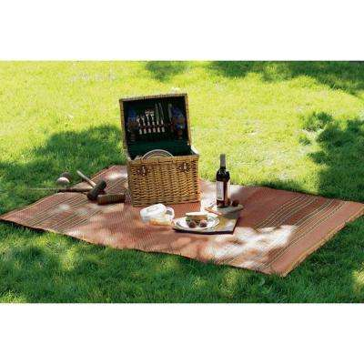 Pueblo Design Cocoa and Natural 4 ft. x 5 ft. Area Rug