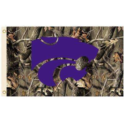 NCAA 3 ft. x 5 ft. Realtree Camo Background Kansas State Flag