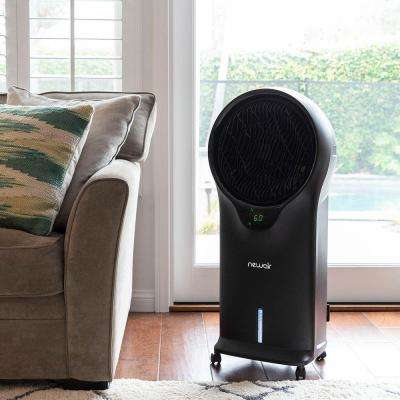 500 CFM 3-Speed 2-In-1 Evaporative Cooler (Swamp Cooler) and Fan with Removable Water Tank for 250 sq. ft. - Black