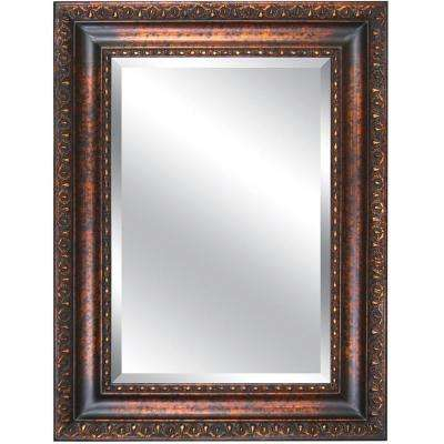 35 in. x 47 in. Rectangular Decorative Antique Gold Wood Framed Mirror