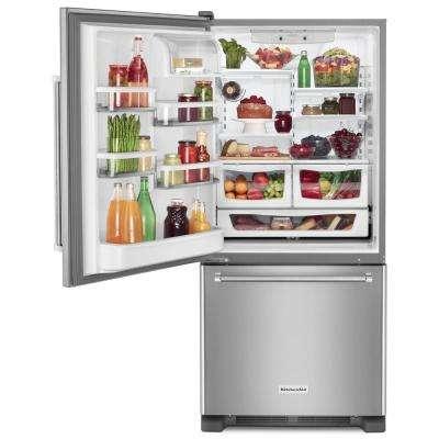 18.7 cu. ft. Bottom Freezer Refrigerator in Stainless Steel