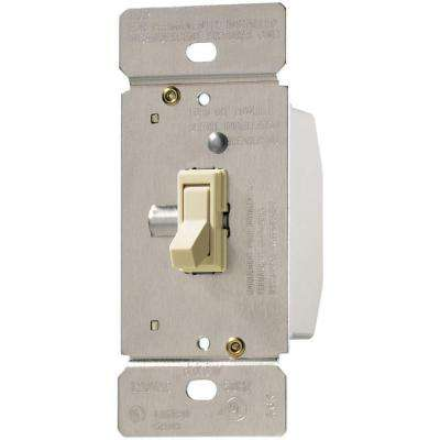 Trace 600-Watt 125-Volt Single-Pole 3-Way Toggle Dimmer for Incandescent and Halogen Lighting, Almond