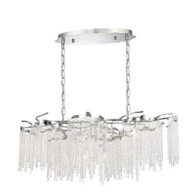 Arte Collection 12-Light Chrome Linear Chandelier