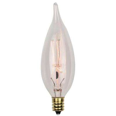 40-Watt Timeless Vintage Inspired Incandescent CA10 Light Bulb (2-Pack)