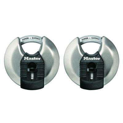 Magnum 2-3/4 in. Shrouded Disc Padlock (2-Pack)