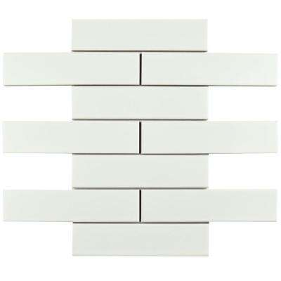Metro Soho Subway Matte White 1-3/4 in. x 7-3/4 in. Porcelain Floor and Wall Tile (1 sq. ft. / pack)