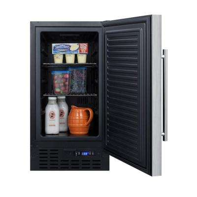 18 in. 3 cu. ft. Mini Refrigerator in Stainless Steel