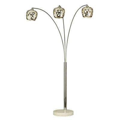 Astrulux 83 in. Chrome Floor Lamp