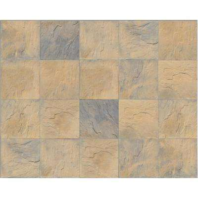 Patio-on-a-Pallet 18 in. x 18 in. Concrete Tan Variegated Traditional Yorkstone Paver (pallet of 64 pieces)