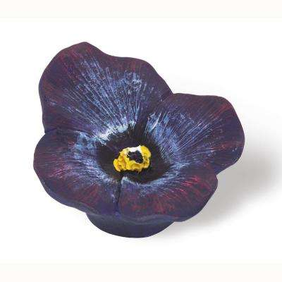 Flowers 2 in. Lilac Cabinet Knob