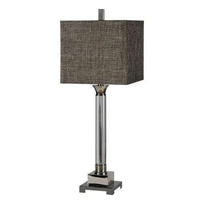 Luna 30 in. Chrome Table Lamp