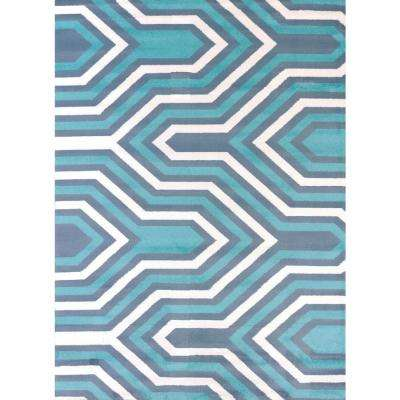 Cupola Blue 5 ft. 3 in. x 7 ft. 2 in. Indoor Area Rug