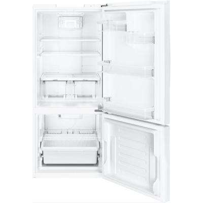 21 cu. ft. Bottom Freezer Refrigerator in White, ENERGY STAR